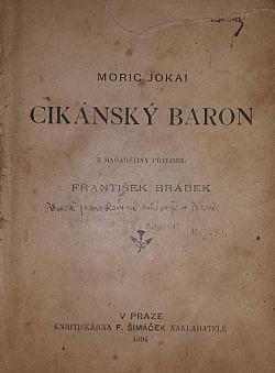 Cikánský baron a jiné povídky obálka knihy