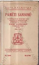 Paměti Sansonů obálka knihy