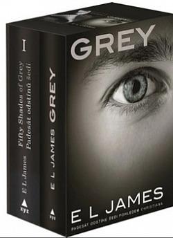 Padesát odstínů šedi + Grey - dárkový box (komplet) obálka knihy
