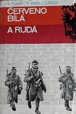 Červenobílá a rudá obálka knihy