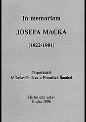 In memoriam Josefa Macka obálka knihy