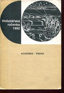 Hvězdářská ročenka 1992 obálka knihy