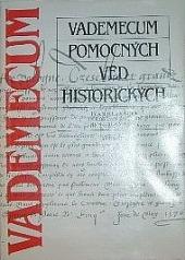 Vademecum pomocných věd historických obálka knihy