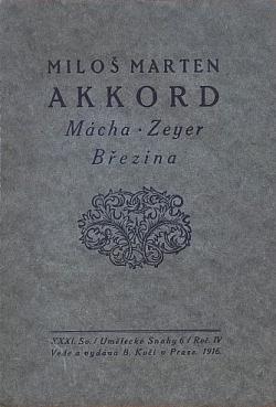 Akkord: Mácha-Zeyer-Březina: essaie obálka knihy
