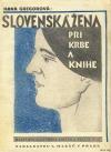 Slovenka pri krbe a knihe
