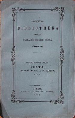 Cesta do země Svaté a do Egypta. Díl I. obálka knihy