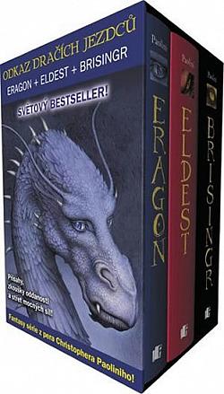 Odkaz Dračích jezdců 1–3: Eragon, Eldest, Brisingr obálka knihy