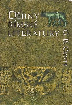 Dějiny římské literatury obálka knihy