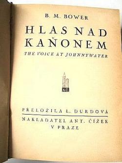 Hlas nad Kaňonem obálka knihy