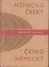 Německo-český a česko německý kapesní slovník