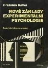 Nové základy experimentální psychologie obálka knihy