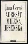 Adresát Milena Jesenská obálka knihy