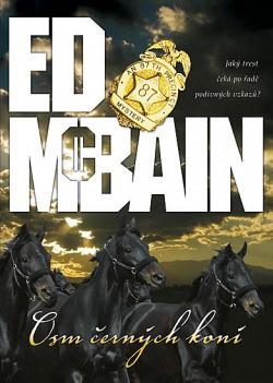 Osm černých koní obálka knihy