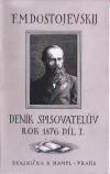 Deník spisovatelův. Rok 1876. Díl I.