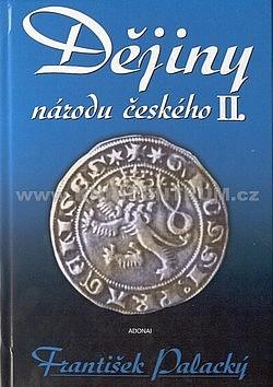 Dějiny národu českého II. obálka knihy
