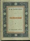 Vilém Rozkoč obálka knihy