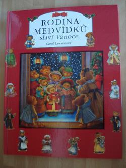 Rodina medvídků slaví Vánoce obálka knihy