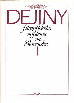 Dejiny filozofického myslenia na Slovensku I. obálka knihy