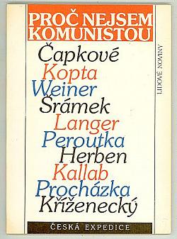 Proč nejsem komunistou obálka knihy