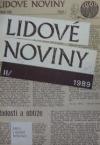 Lidové noviny II./1989 obálka knihy