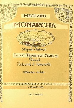 Medvěd Monarcha obálka knihy