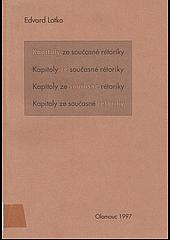 Kapitoly ze současné rétoriky obálka knihy