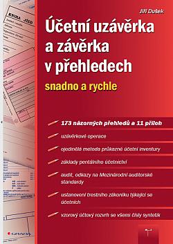 Účetní uzávěrka a závěrka v přehledech obálka knihy