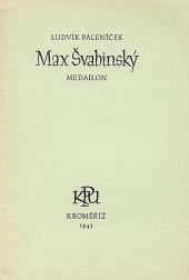 Max Švabinský, medailón obálka knihy