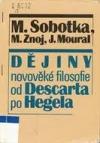Dějiny novověké filosofie od Descarta po Hegela obálka knihy