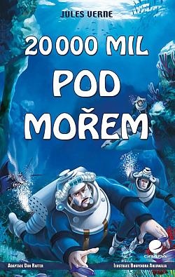 20 000 mil pod mořem (komiks) obálka knihy